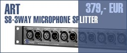 ART S8-3-Way Microphone Splitter