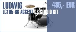 Ludwig LC105-BK Accent CS Studio Kit