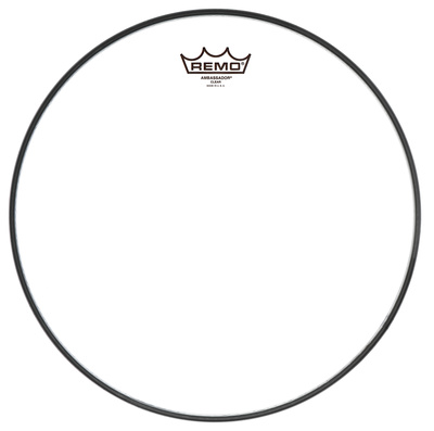 "Remo 22"" Ambassador Bass Drum Fell transparent"