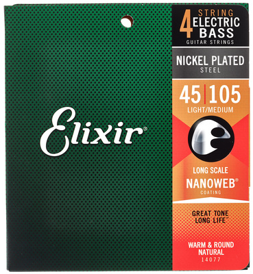 Elixir Nanoweb Medium Long Scale E-Bass Saiten
