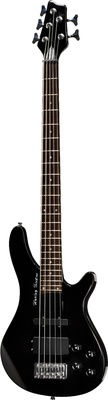 Harley Benton HBB500TBK 5-string E-Bass transparent black