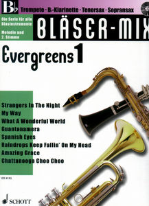 Schott Bläser-Mix Evergreens Vol.1 Bb