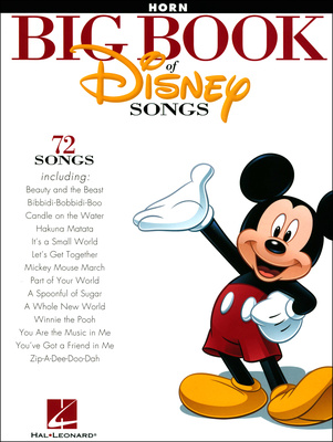 Hal Leonard The Bog Book Of Disney Horn
