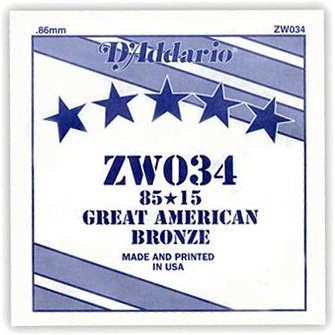 Daddario ZW034 Single String