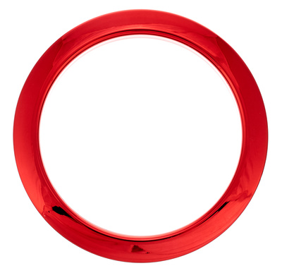 "Bass Drum O's 4"" Red Chrome round HCR4"
