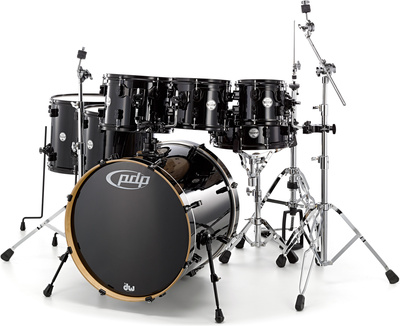 DW PDP CM7 Rock Pearlescent Black